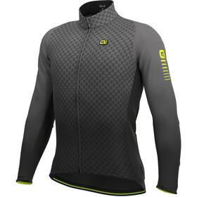 Alé Cycling R-EV1 Velocity Wind Graphene Maglia Jersey A Maniche Lunghe Uomo, grigio/nero